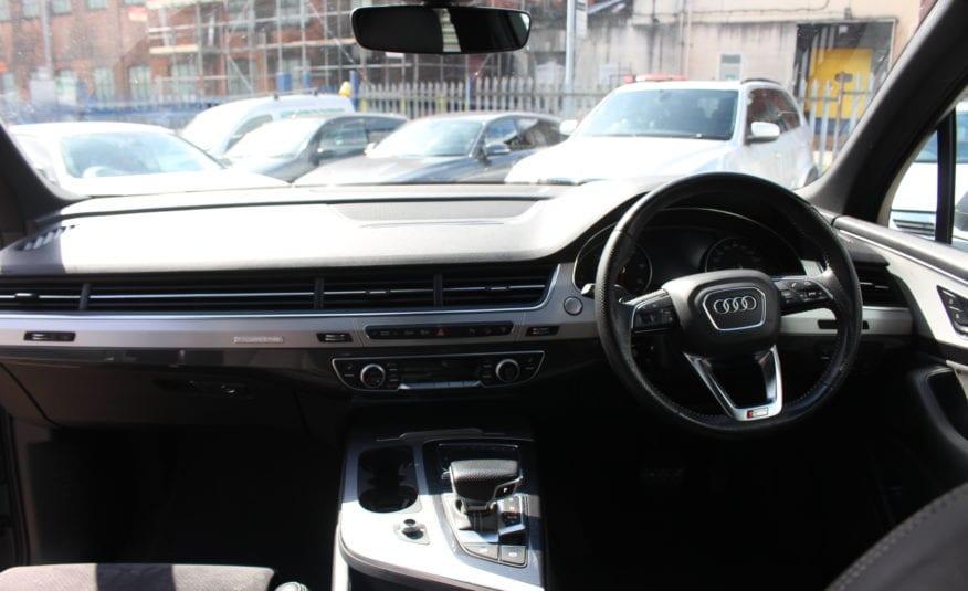 2017 (67) Audi Q7 3.0 TDI V6 S line Tiptronic quattro (s/s) 5dr