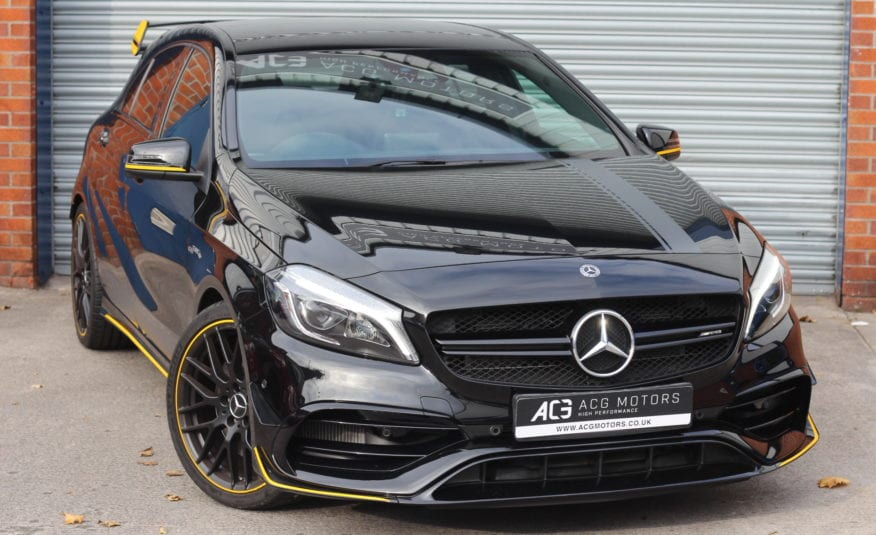 2017 (67) Mercedes-Benz A Class 2.0 A45 AMG Yellow Night Edition SpdS DCT 4MATIC (s/s) 5dr