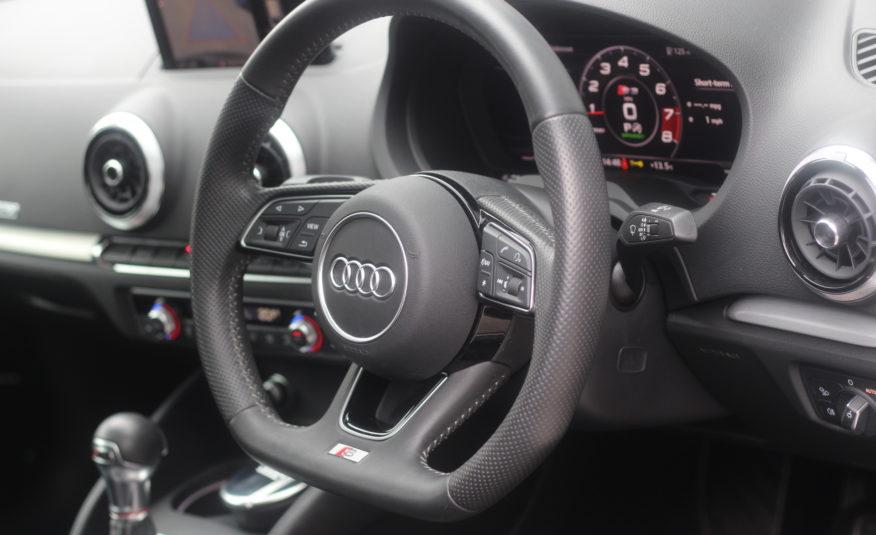2018 (18) Audi S3 2.0 TFSI Black Edition S Tronic quattro (s/s) 4dr