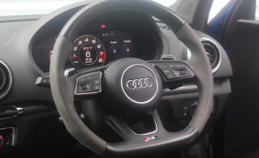 2017 (67) Audi RS3 2.5 TFSI S Tronic quattro (s/s) 4dr